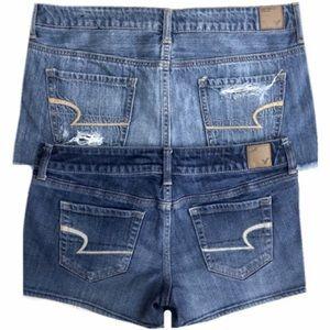 2 PAIRS American Eagle Denim Shorts Bundle